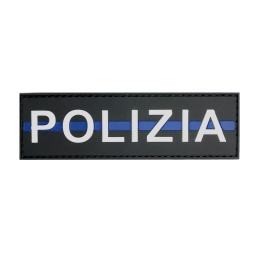 "Badge POLIZIA ""Thin Blue Line"""