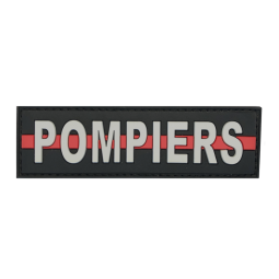 """Badge POMPIERS """"Thin Red Line"""""""