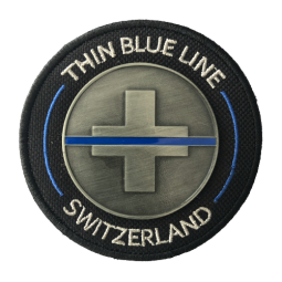 "Badge Iron ""Thin Blue Line..."