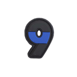 "Badge 9 ""Thin Blue Line"""