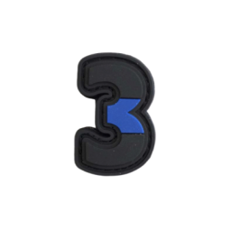 "Badge 3 ""Thin Blue Line"""