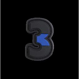 "Badge 3 ""Thin Blue Line"""