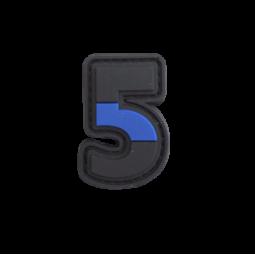 "Badge 5 ""Thin Blue Line"""
