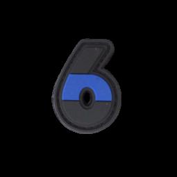 """Abzeichen 6 """"Thin Blue Line"""""""