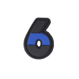 "Badge 6 ""Thin Blue Line"""