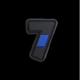 "Badge 7 ""Thin Blue Line"""