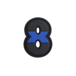 "Badge 8 ""Thin Blue Line"""