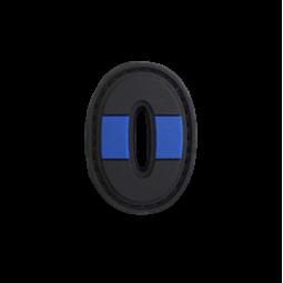 """Abzeichen 0 """"Thin Blue Line"""""""