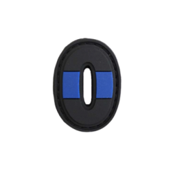 "Badge 0 ""Thin Blue Line"""