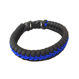 "Armband in V ""Thin Blue Line"""