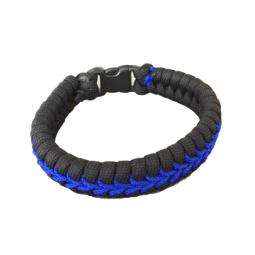 """Bracelet en V """"Thin Blue Line"""""""