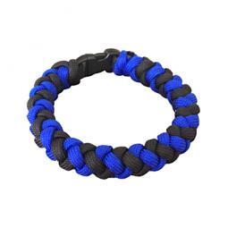 "Bracelet tressé ""Thin Blue..."
