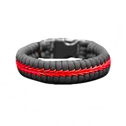"""Bracelet en V """"Thin Red Line"""""""