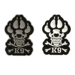 Badge K9 Skull PVC