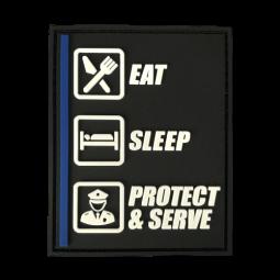 Abzeichen Eat - Sleep -...