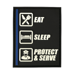 Badge Eat - Sleep - Protect...