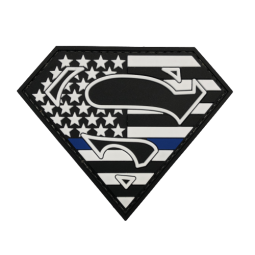 "Badge Superman ""Thin Blue..."