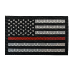 "Badge IR ""Thin Red Line USA"""