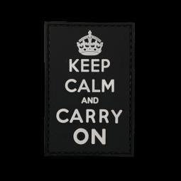 Badge KEEP CALM & CARRY ON