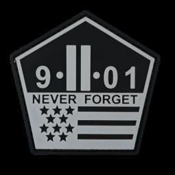 Abzeichen 9.11 NEVER FORGET