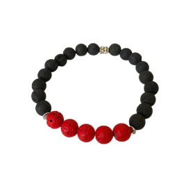 "Lavastein Armband ""Thin Red..."