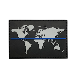 Badge Thin Blue Line World