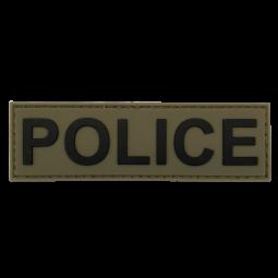 Badge POLICE - Olive