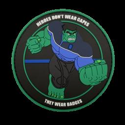"""Badge HULK """"Thin Blue Line"""""""