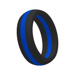 "Bague ""Thin Blue Line"""