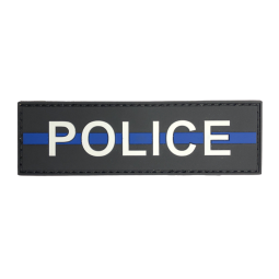 "Badge POLICE ""Thin Blue Line"""