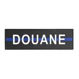 "Badge DOUANE ""Thin Blue Line"""