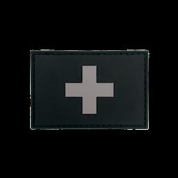 Badge rectangle SUISSE - Black