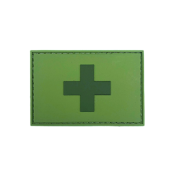 Badge rectangle SUISSE - Olive