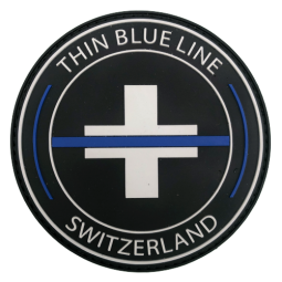 "Badge rond PVC ""Thin Blue..."