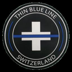 """Rundes Abzeichen """"Thin Blue..."""