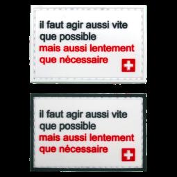 Badge AUSSI VITE QUE...